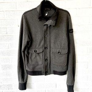 Armani Jeans Gray Cotton Bomber Jacket